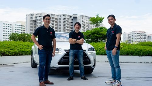 Motorist management team: (from left to right) Jake Ler (Chief Marketing Officer), Damian Sia (Chief Executive Officer), Eugene Foo (Chief Operating Officer). Photo credit: Motorist.sg.