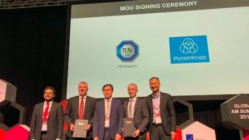 TÜV SÜD And thyssenkrupp Innovations Sign MoU To Develop Additive-Manufacturing-Enabled Eolutions In APAC
